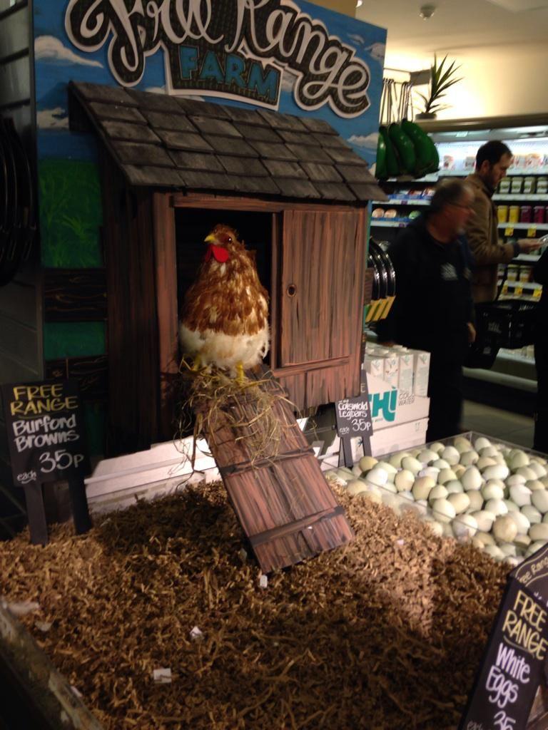 Whole Foods Market, UK Egg display Whole foods market