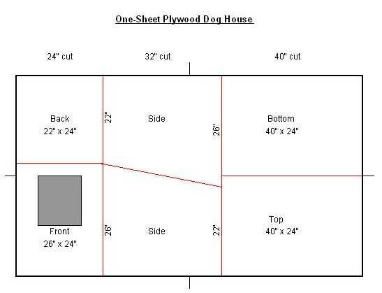 One Sheet 4 39 X 8 39 Plywood Dog House Resha Sled Dog