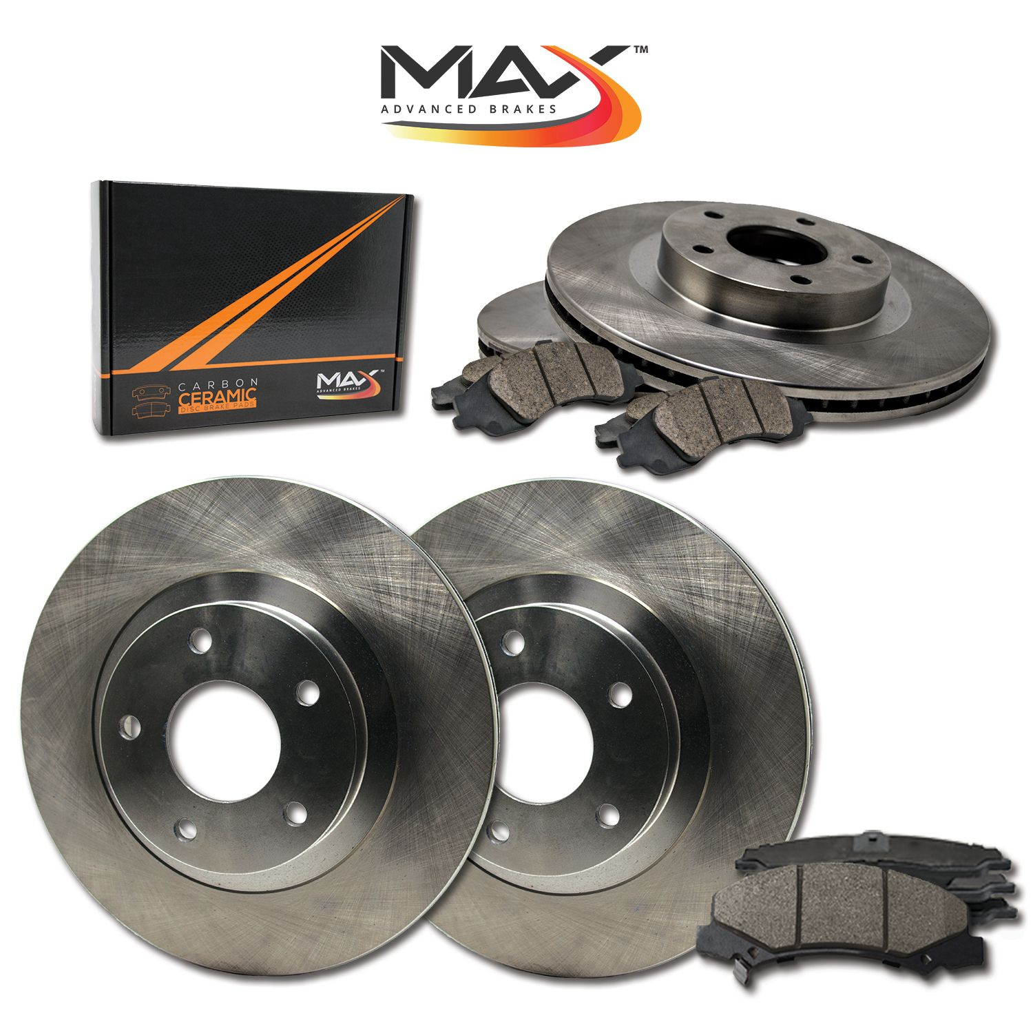 Rotors Metallic Pads F+R OE Replacement 2005 2006 2007 Toyota Avalon