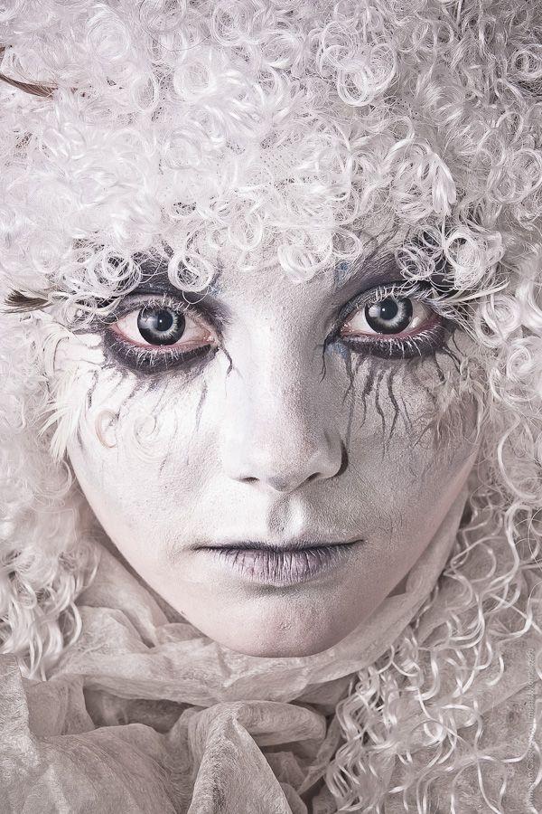 """Snow ghost I"" by ~vil-painter on deviantART - 'Photo: Mihail Savchenko. Model: Melissa' / Halloween makeup inspiration"