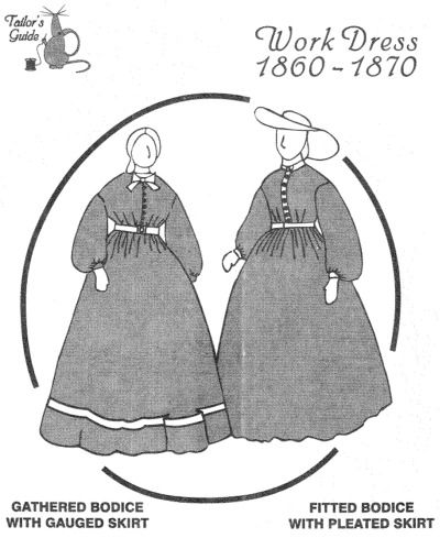 1860 reenactment sewing patterns dresses | patterns tailor s
