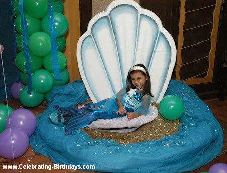 Shell for the little mermaid to under the sea for Ariel decoration party