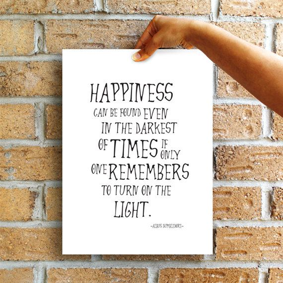 "SALE! Harry Potter ""Happiness can be found"" Albus Dumbledore Quote,Harry Potter quotes, poster, prints, wall art baby art prints decor ET_23"