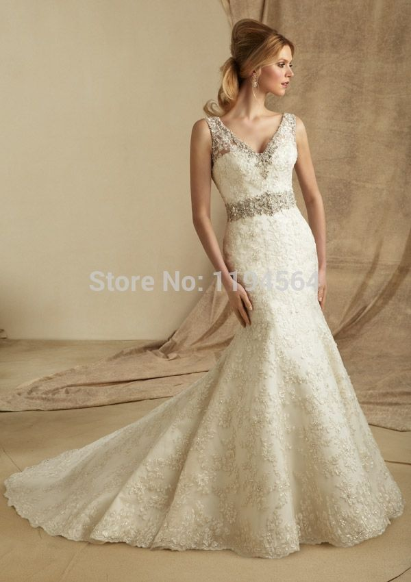 >> Click to Buy << 2015 Crystal Beading Wedding Dresses Lace Sweetheart Vestidos De Noiva Mermaid Bridal Gowns Low Back Tank WH756 #Affiliate
