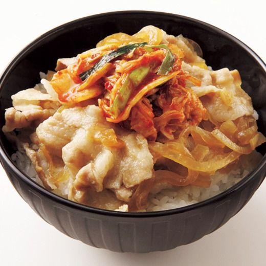 レンジキムチ豚丼