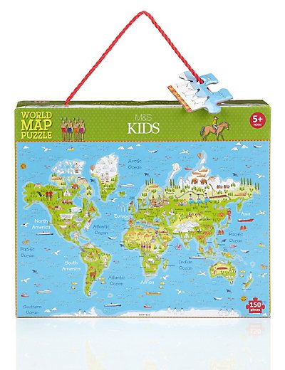 World map puzzle ms kids at christmas pinterest toy boxes world map puzzle ms gumiabroncs Images