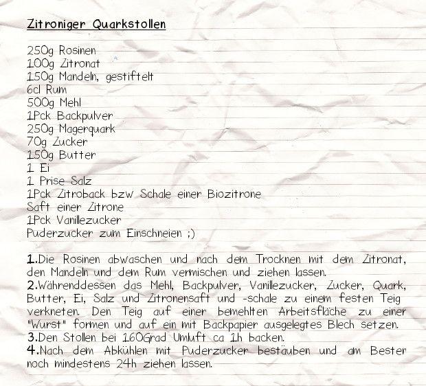 FAIBLE: Das dritte Türchen öffnet sich: Zitroniger Quarkstollen