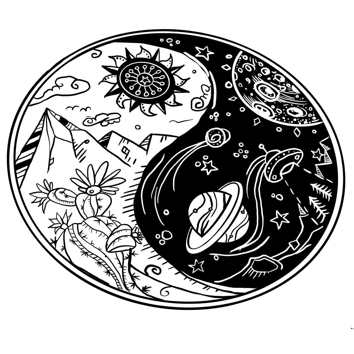 yin  yang procreate  tatuagem