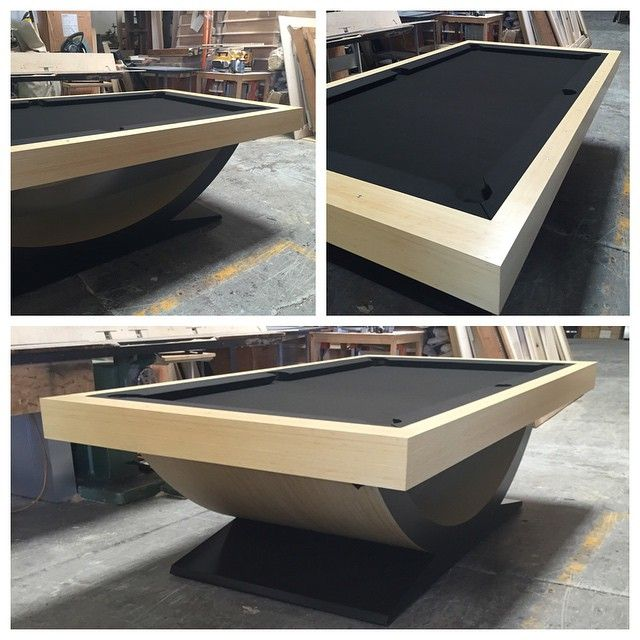 Theseus Bamboo Pool Table. Who's up for a game? #pooltable #billiards #custom #luxury #madeinusa