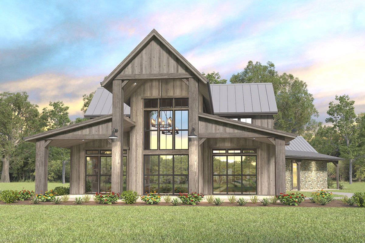 Modern Farmhouse Plan With Great Views To The Back 85316ms Architectural Designs House Pl Modern Farmhouse Plans Home Design Floor Plans Barn House Plans