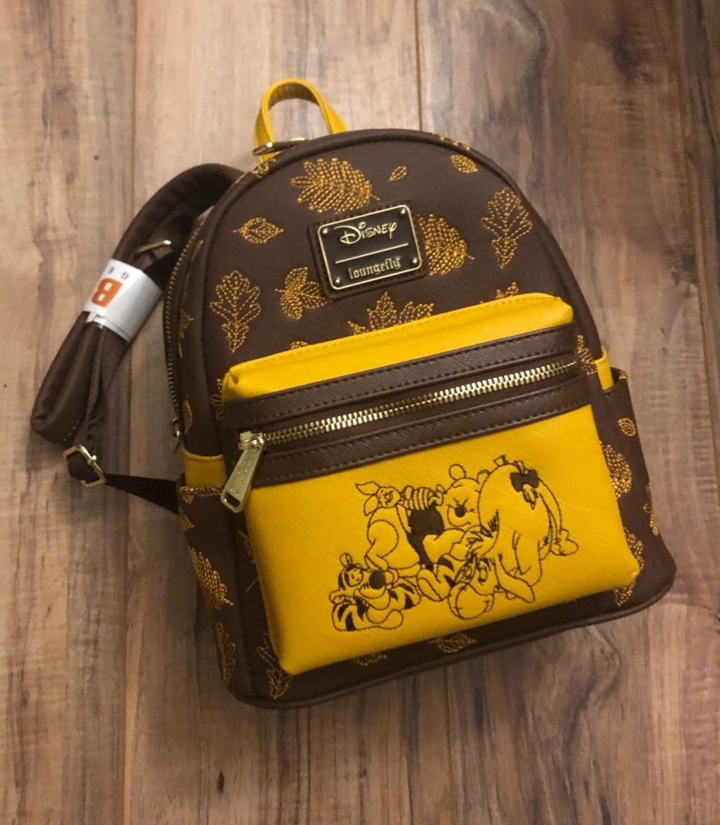 Details about  /Disney Loungefly Red Winnie the Pooh Hunny Passport Crossbody Purse Bag NWT