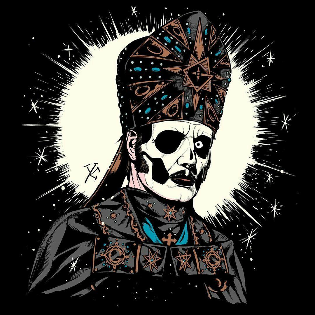 Papa Emeritus Iv By Yukkedondon Carteles De Banda Bandas De Metal Tatuaje Gato