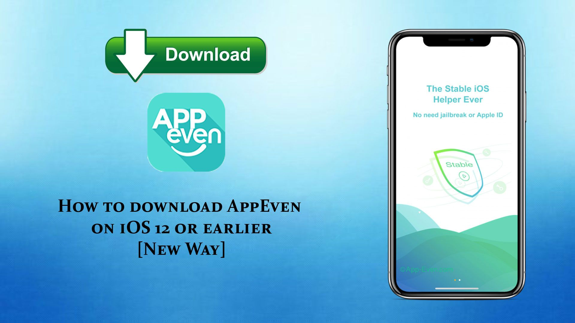 New Way! How to download AppEven on iOS 12 without