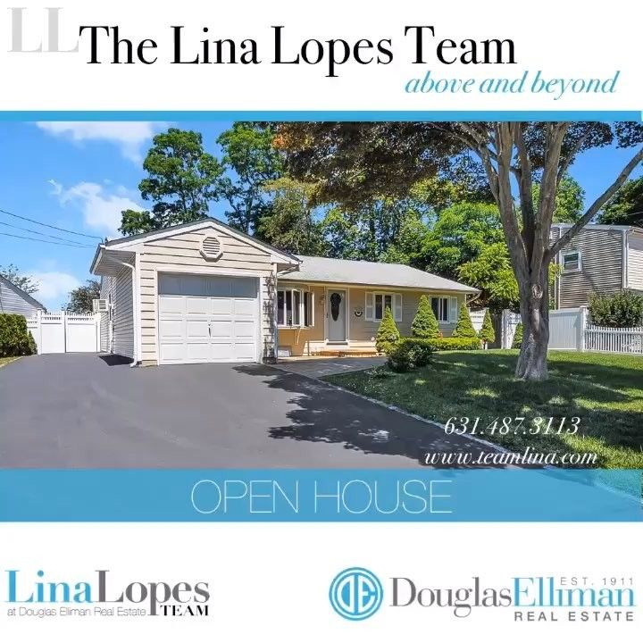 Super #openhouse weekend!!! Lots of fantastic fresh listings for the summer!! Visit www.TeamLina.com for times and locations! #thelinalopesteam #douglaselliman #douglasellimanli #selden #bellport village #coram #manorville #eastpatchogue #farmingville #ronkonkoma #medford #centereach www.teamlina.com