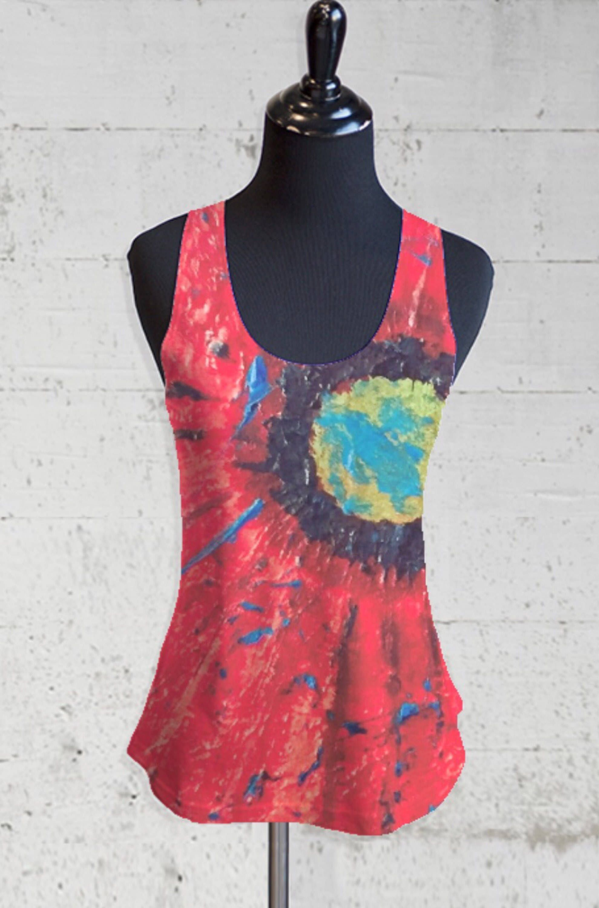 Clearance Fashion Style Sleeveless Top - Heart Leaves II by VIDA VIDA Cheap Collections Cheap Sale Clearance Browse Sale Online ftkL8EKps