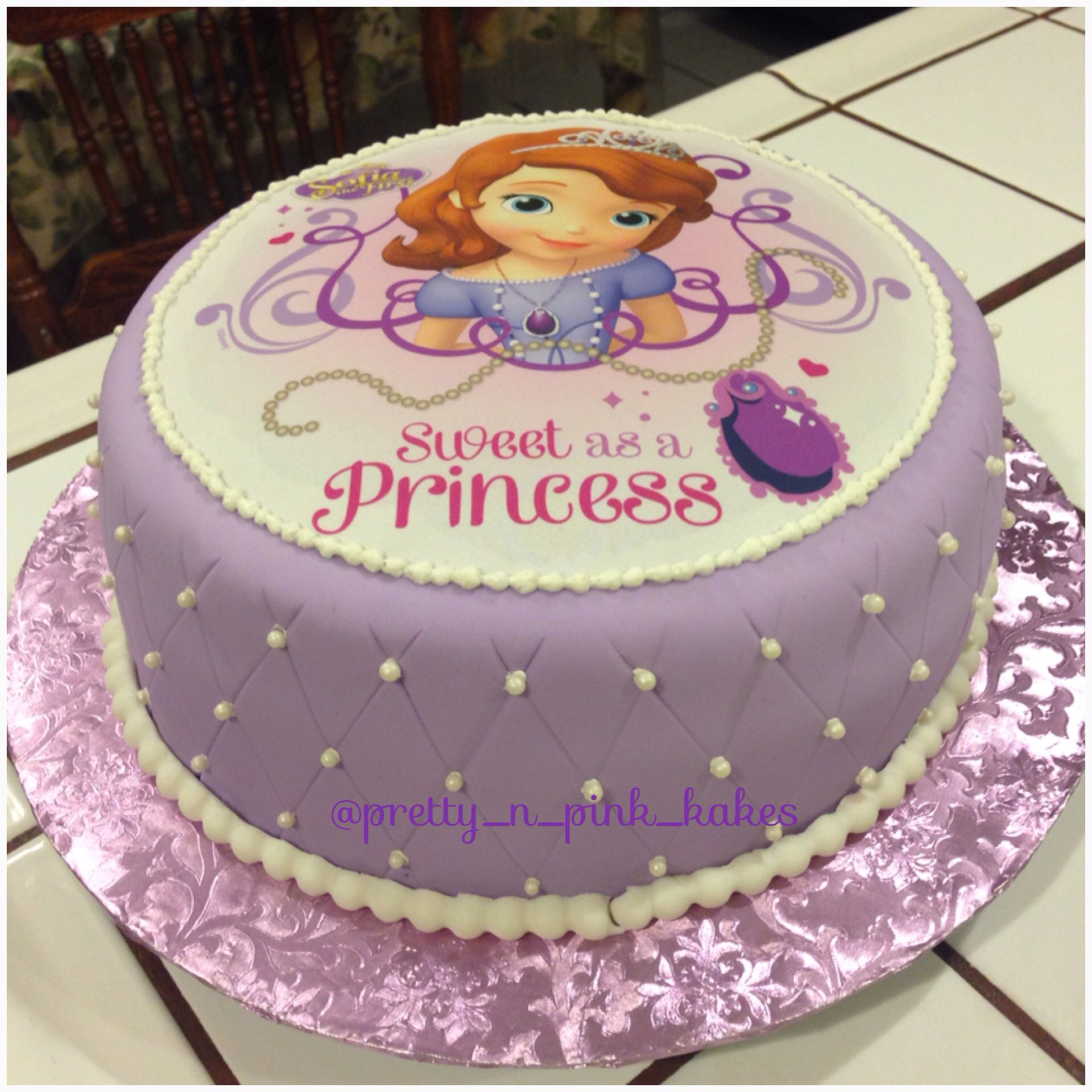 Sofia The First Birthday Cake With Images Sofia Birthday Cake
