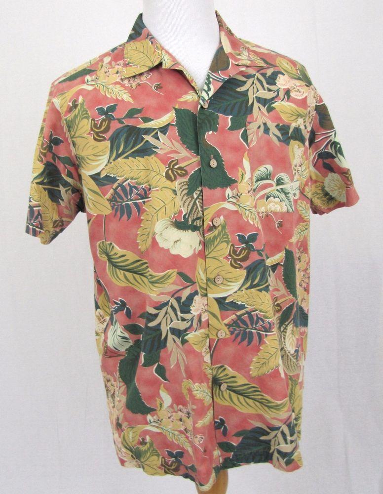 94d2745f3 Polo Ralph Lauren Hawaiian Shirt Large Vintage Caldwell Floral Hibiscus  Aloha #PoloRalphLauren #Hawaiian