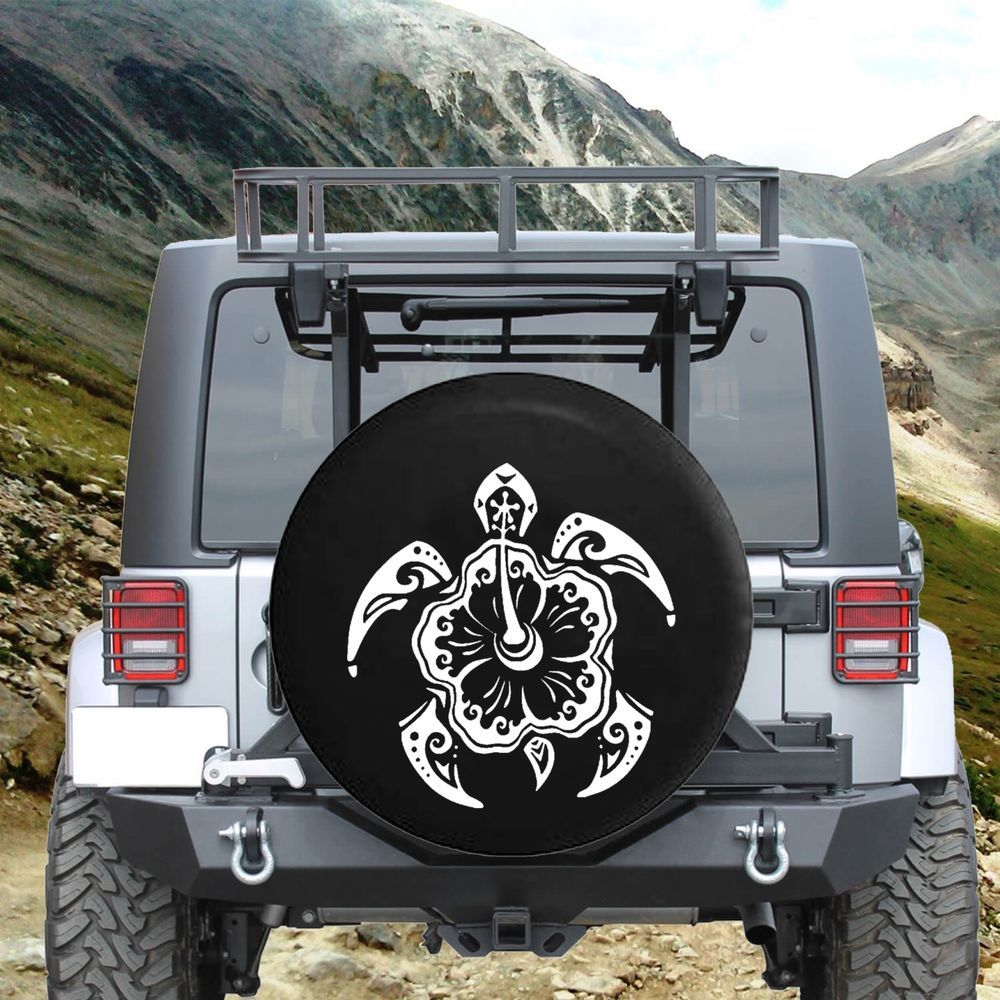 Details About Spare Tire Cover Sea Turtle Ocean Life Isl Flower