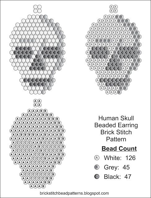 Brick Stitch Bead Patterns Journal Human Skull Free Brick Stitch Cool Seed Bead Patterns