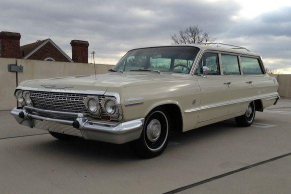 1963 chevrolet impala l33 409 wagon brakes estates and. Black Bedroom Furniture Sets. Home Design Ideas