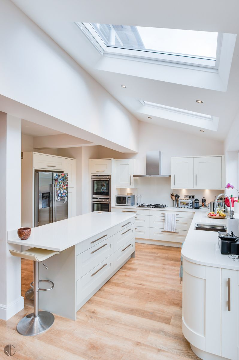 White Kitchen Extensions rear extension - if we extend whole wall. leaves room for