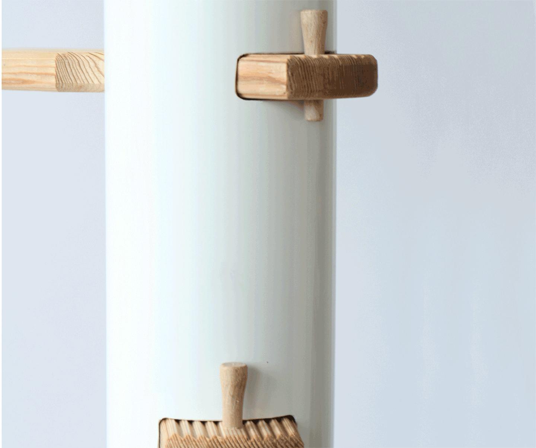 die bekannte patentierte katzentreppe katzenleiter f r au en und innen tolles design. Black Bedroom Furniture Sets. Home Design Ideas