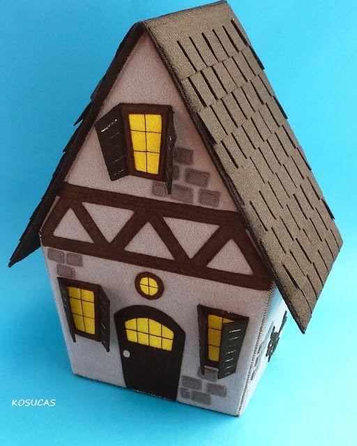 Felt halloween house. Casa de Halloween de fieltro.
