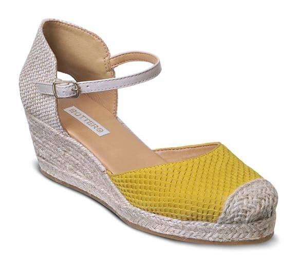 Sandália espadrille amarela   Sandálias   Bottero Calçados