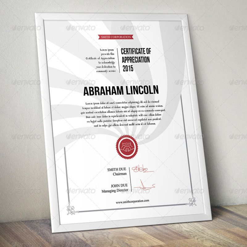 PSD and Ai Certificate of Appreciation Template Certificate of - corporate certificate template
