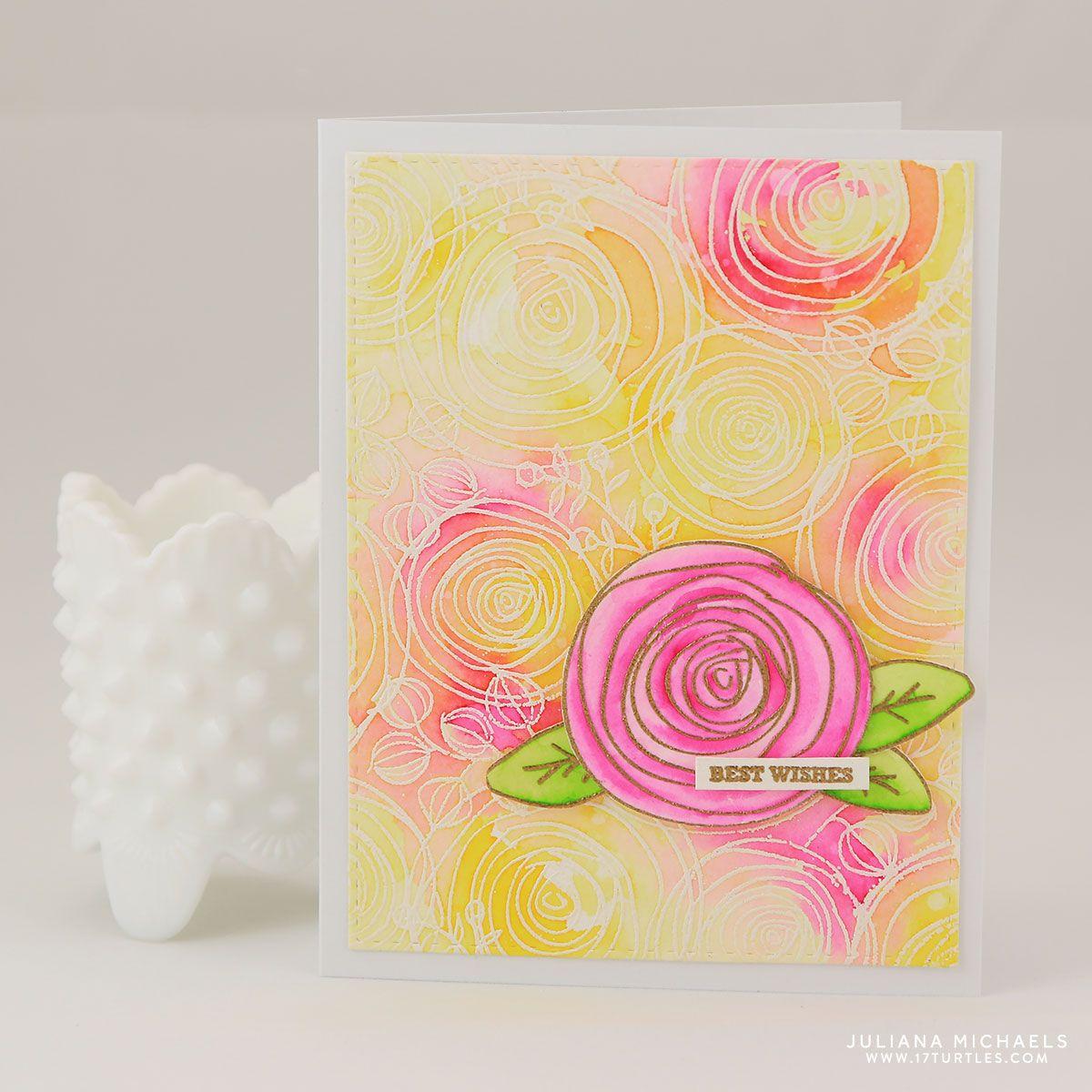 Cardmaker Magazine Blog Team Best Wishes Card Floral Cards