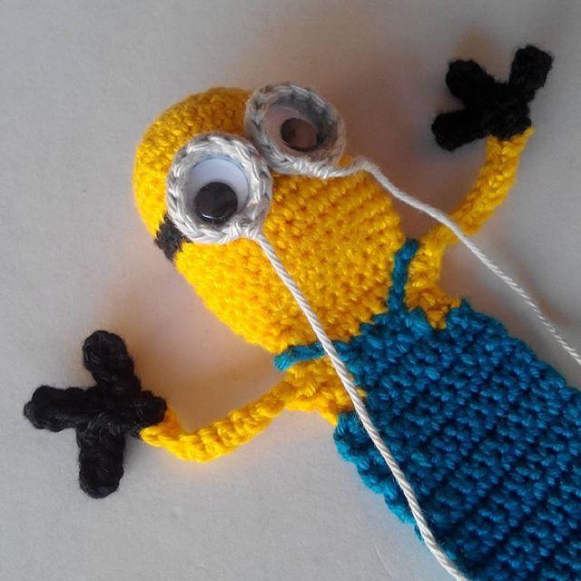 Minion Bookmark soon! #supergurumi #crochet #bookmark #minion ...