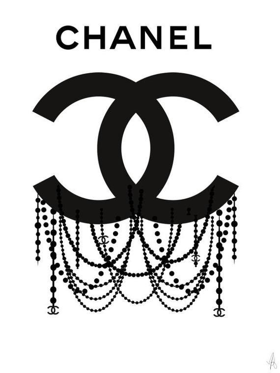 Logo Chanel, affiche Chanel, art de Chanel, impression de Chanel, illustration de Chanel, illustration de mode, art mural mode