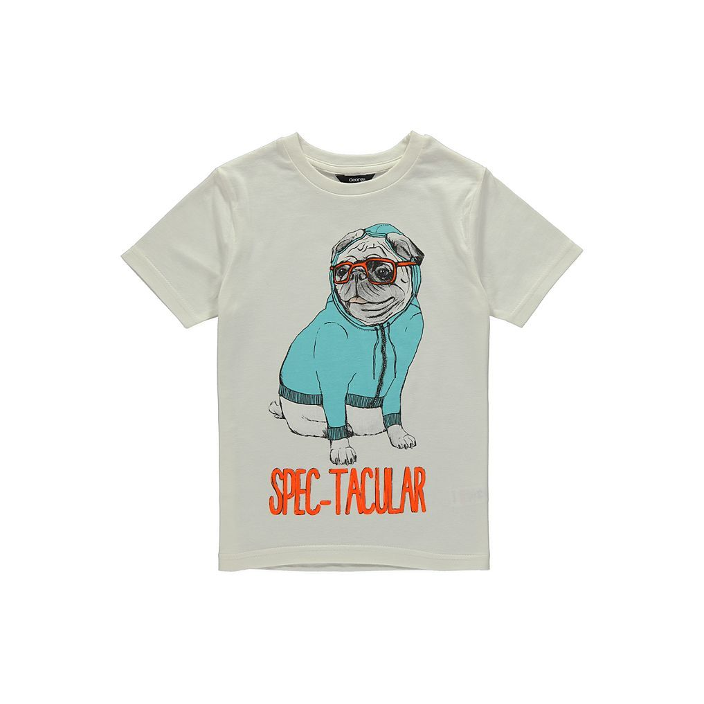 Pug T Shirt Boys George At Asda Mens Tops Shirts T Shirt