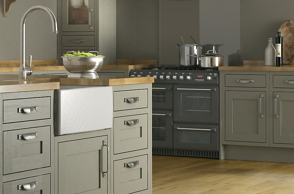 BQ The UKs Number 1 Kitchen Retailer Offering Cooke Lewis Carisbrooke Taupe Framed