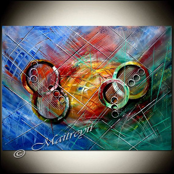 OIL PAINTING Multicolor Abstract Painting Artwork by largeartwork