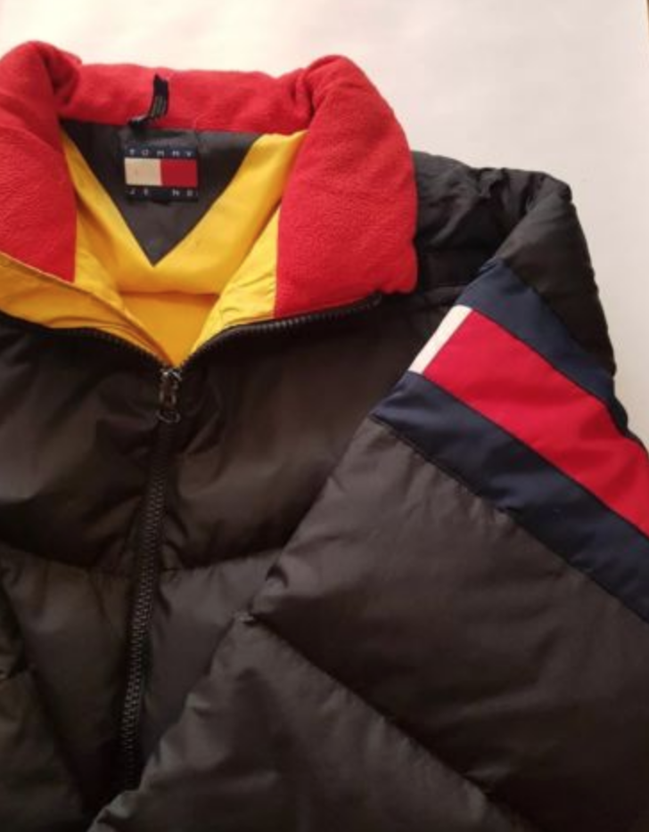 2044b49501624b FOR SALE  TOMMY HILFIGER Mens 90s Puffa Jacket Red White THE OUTDOOR  EXPEDITION!RARE!!