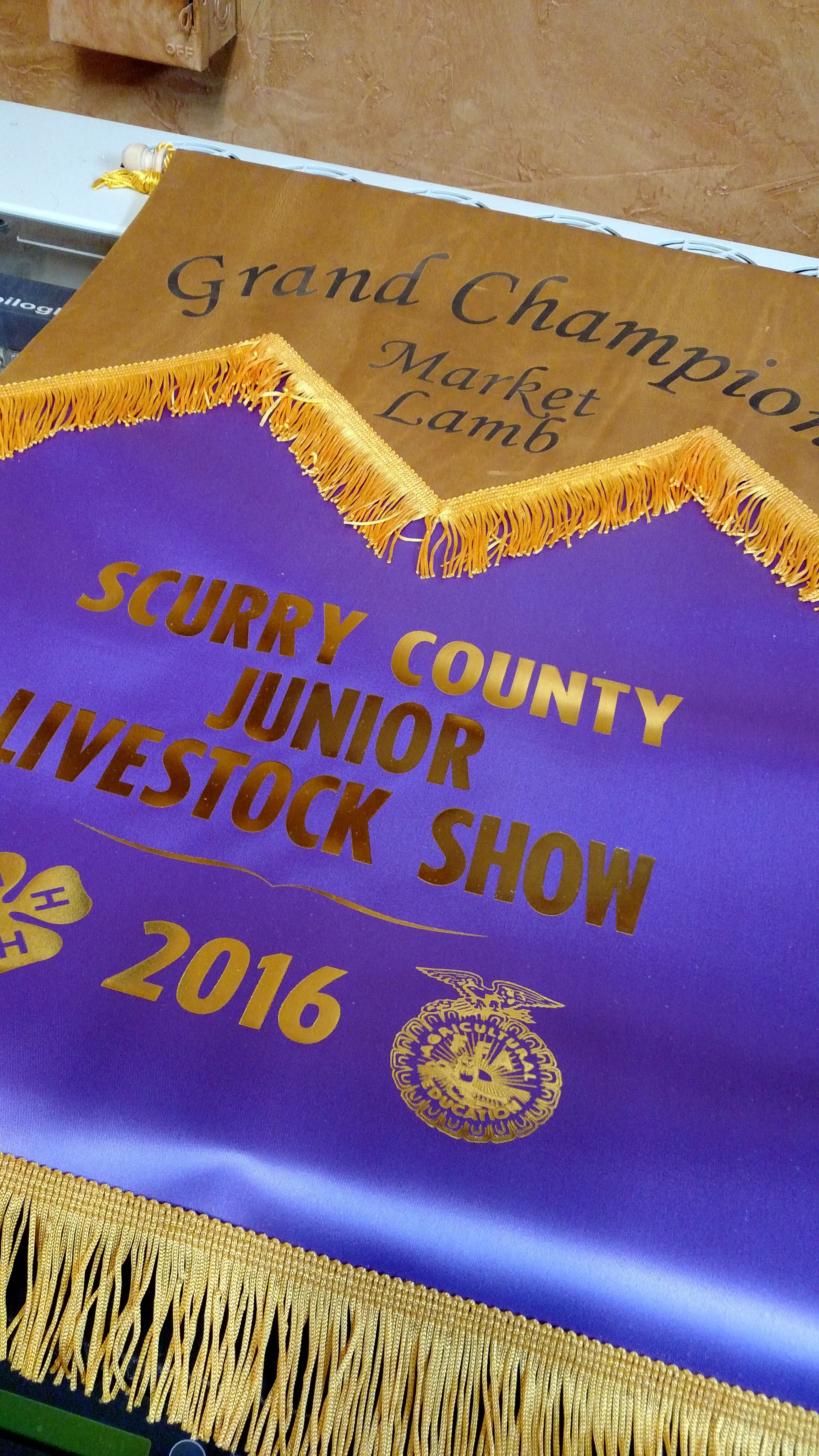 Scurry County Jr Livestock Show Laser Engraved Grand Champion Banners Showing Livestock Livestock Show Cattle