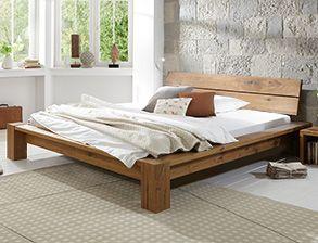 bett navia aus gelter wildeiche in komforthhe - Bett Backboard Ideen