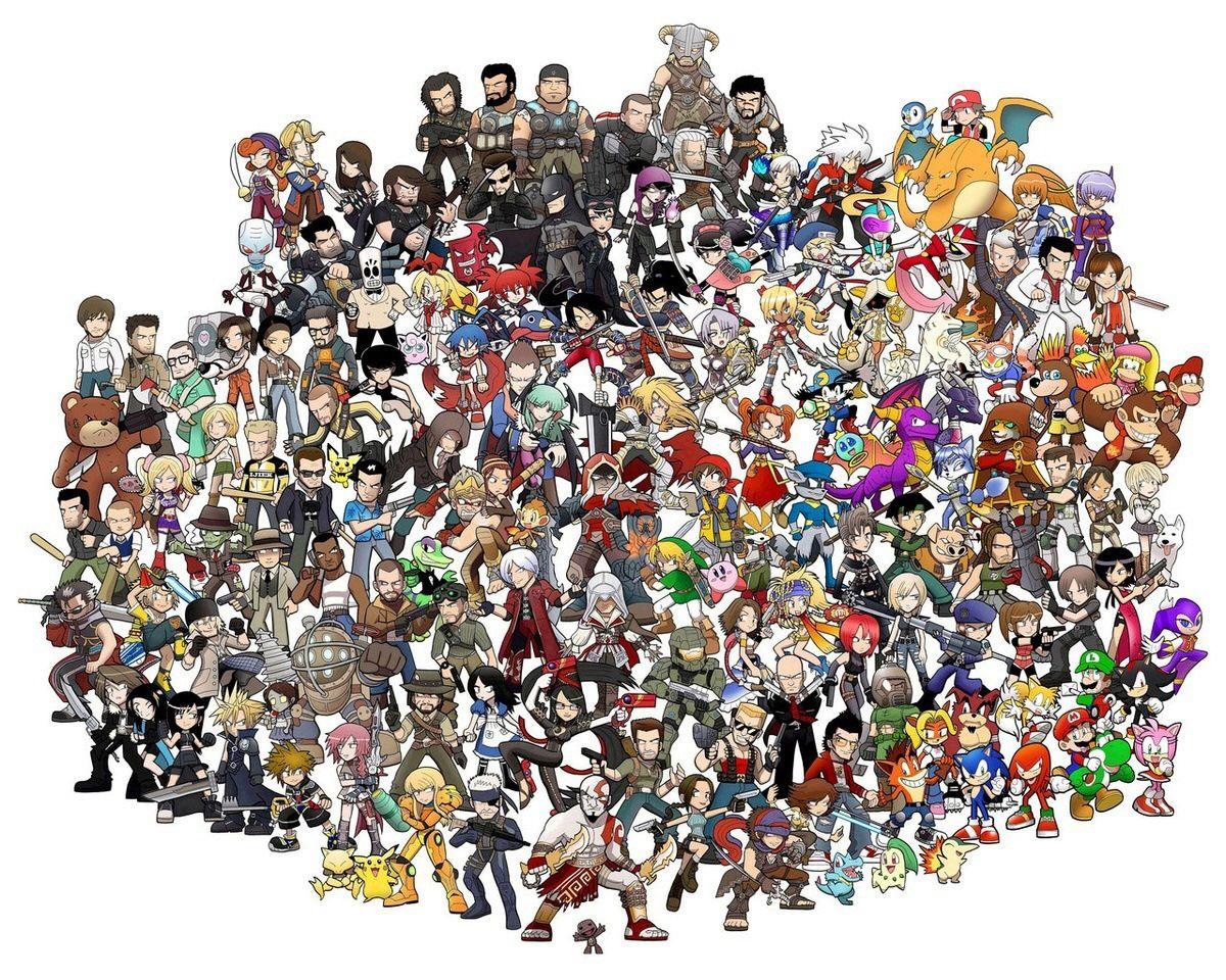 много персонажей на одной картинке из игры вас есть