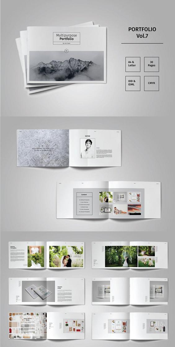 Landscape Portfolio Template Vol 7 In 2020 Portfolio Design Layout Indesign Layout Architecture Portfolio Template