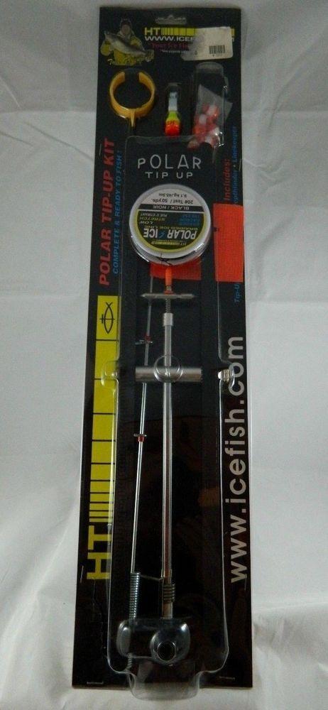 HT Polar Flag Tip Up Complete Ice Fishing Kit Line