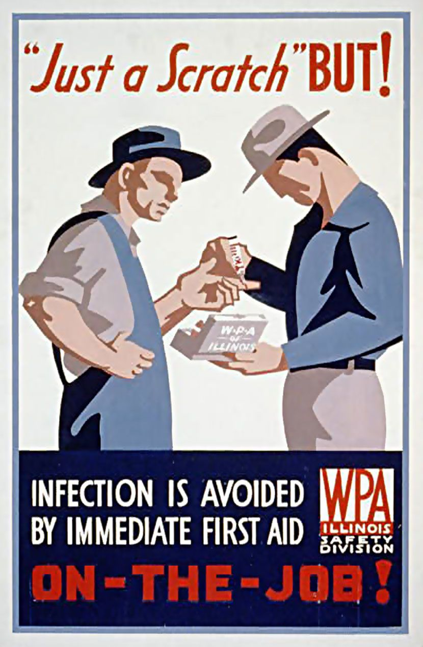 WPA Job Safety poster. Before penicillin was generally