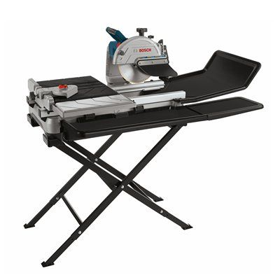 Bosch Tc10 07 10 In Wet Tile And Stone Saw With Folding Stand Tile Saw Bosch Tile Saws