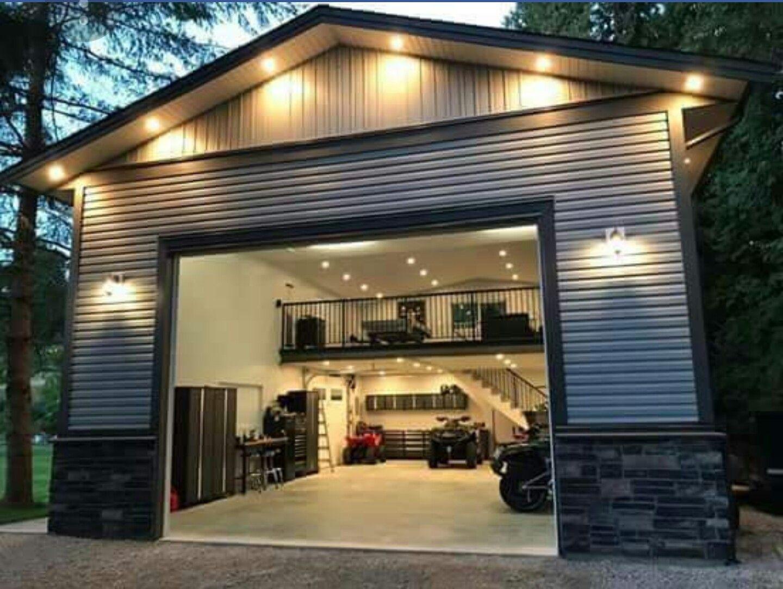 Metal Building Man Cave Garage Design Garage House Metal