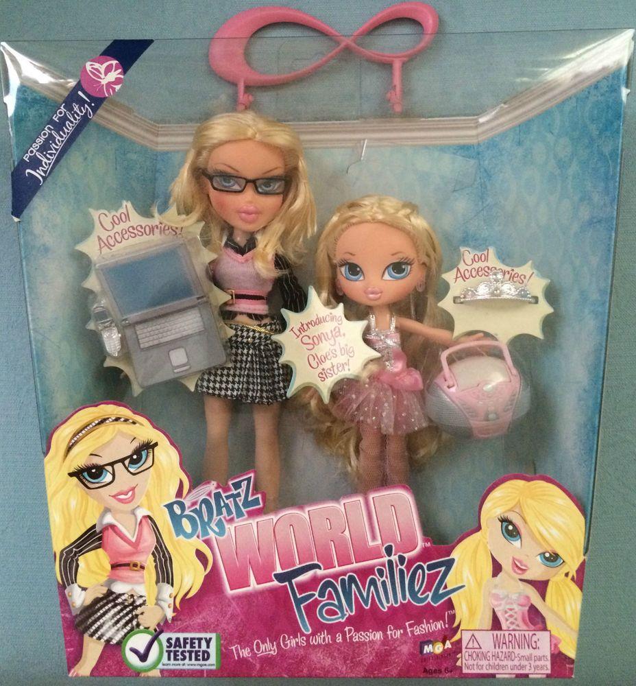 Bratz Dolls World Familiez Families Cloe Her Big Sister Sonya Bnib Vhtf Bratz Doll Barbie Toys Dolls