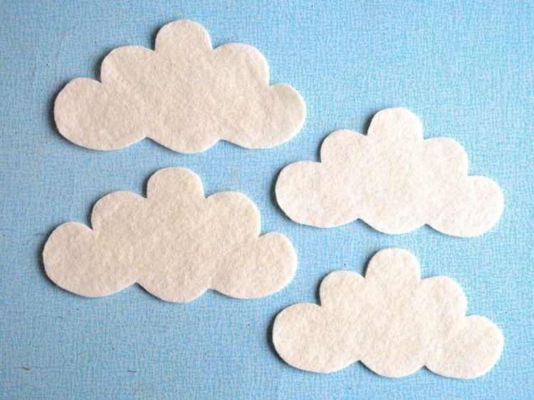 Diy Anleitung Wolken Mobile Basteln Via Dawanda Com Wand Dekor
