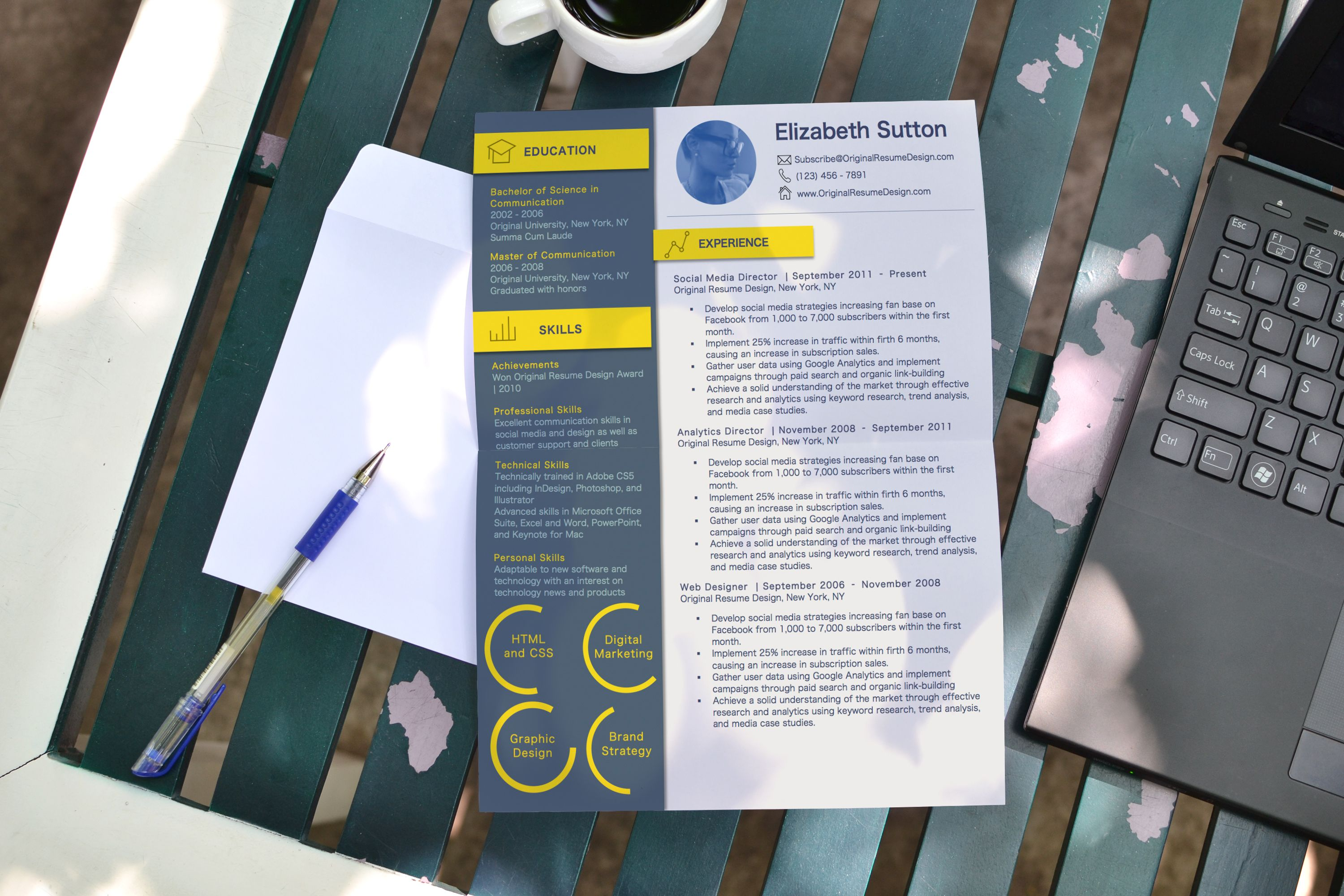 Standing out in the pile of resumes made easy with this easy to edit ...