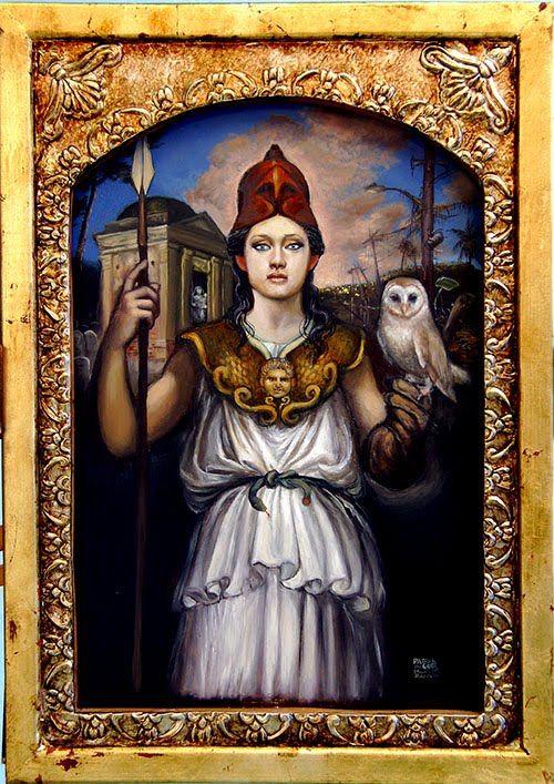 Athena Virgin Goddess Of Wisdom Handicrafts Defense And