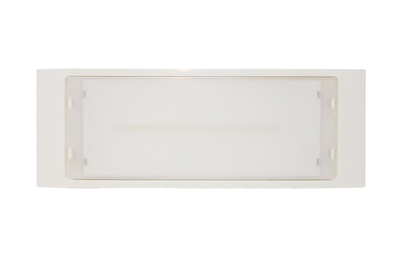 Plafoniera Led Con Emergenza Integrata : Lampada plafoniera emergenza luce led 4w incasso parete ip40 de lite