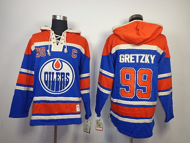 reputable site 65cb4 d02e8 Edmonton Oilers 99 Wayne GRETZKY Lace-Up Jersey Hooded ...